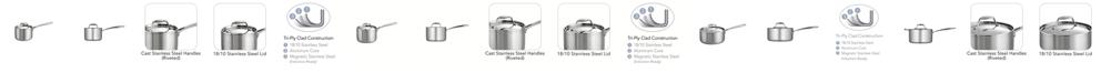 Tramontina Gourmet Tri-Ply Clad 4 Quart Covered Sauce Pan