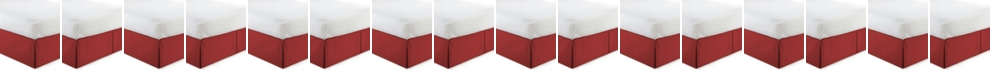 """Colcha Linens Cambric Red Bedskirt 15""""-Full"""