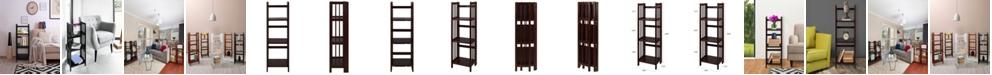 "Yu Shan 3 - Shelf Folding Bookcase 14"" Wide"