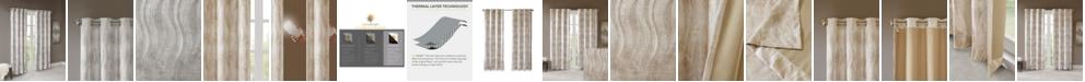 SunSmart Victorio Jacquard Grommet Top Total Blackout Window Curtains