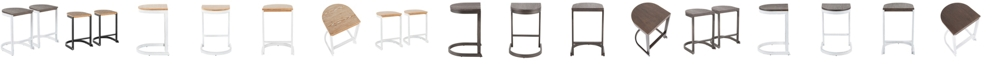 Lumisource Industrial Demi Counter Stool Set of 2