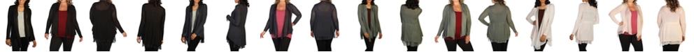 skinnytees Knit and Silk Cardigan
