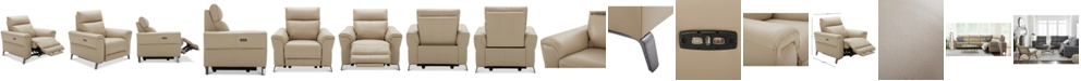 """Furniture CLOSEOUT! Raymere 41"""" Leather Power Motion Recliner"""