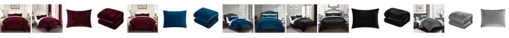 Chic Home Chyna 3-Pc. King Velvet Comforter Set