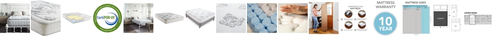 "Sleep Trends Rubi 10.5"" Wrapped Coil Hybrid Firm Pillow Top Mattress- Full"