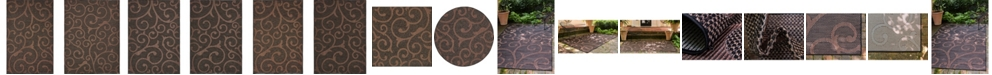 Bridgeport Home Pashio Pas7 Chocolate Brown Area Rug Collection