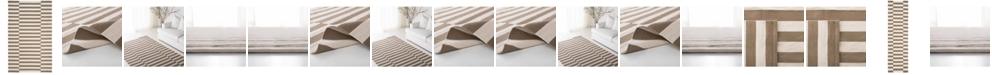 Lauren Ralph Lauren Ludlow Stripe LRL7350C Sepia Area Rug Collection