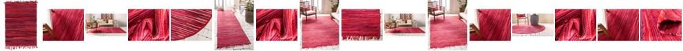 Bridgeport Home Jari Striped Jar1 Red Area Rug Collection