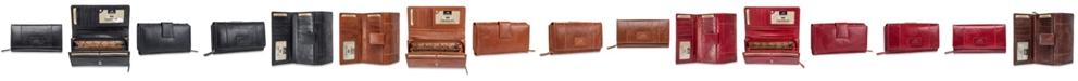 Mancini Casablanca Collection RFID Secure Ladies Clutch Wallet