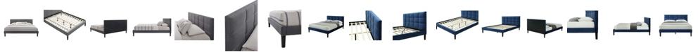 LuXeo Lexington Queen-Size Square Platform Contemporary Bed