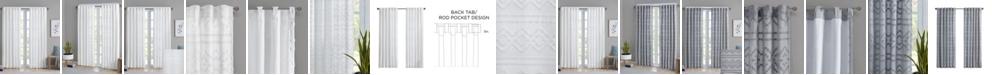 "Intelligent Design Annie Solid Clipped Jacquard Rod Pocket/Back Tabs Window Panel 50"" x 84"""