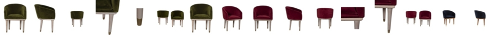 Union Home Accent Chair with Velvet Upholstery