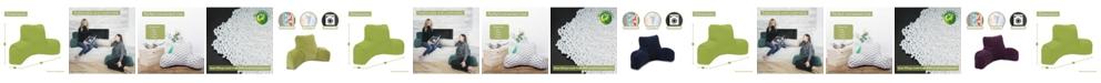 "Majestic Home Goods Villa Comfortable Soft Reading Pillow 33"" x 18"""