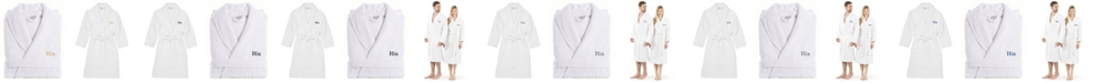 Linum Home Turkish Cotton Embroidered His Terry Bathrobe