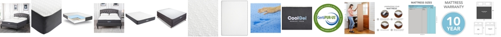"Chic Couture Sleep Trends Ladan King 10.5"" Cool Gel Memory Foam Cushion Firm Pillow Top Mattress"