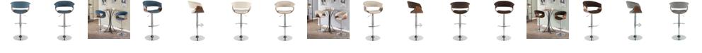 Lumisource Vintage Mod Adjustable Barstool with Swivel
