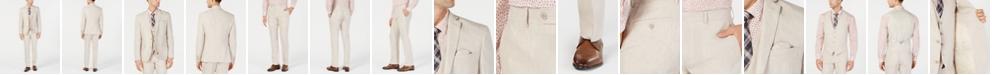 Bar III Men's Slim-Fit Linen Tan Suit Separates, Created for Macy's
