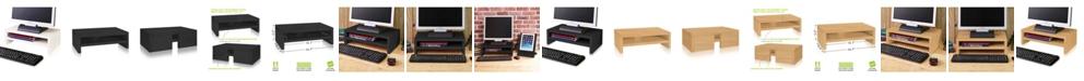 Way Basics Eco Friendly 2-Shelf Monitor Stand