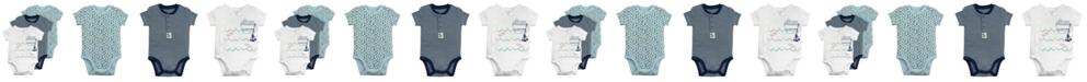 Mac & Moon Mac and Moon 3-Pack Short Sleeve Bodysuits in Nautical Prints