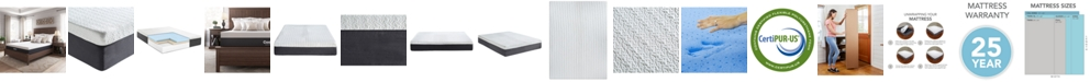 "Sleep Trends Ladan 12"" Cool Gel Memory Foam Plush Tight Top Mattresses, Quick Ship, Mattress in a Box"