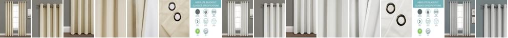 "Lush Decor Faux Linen 84""x52"" Absolute Blackout Single Window Panel"