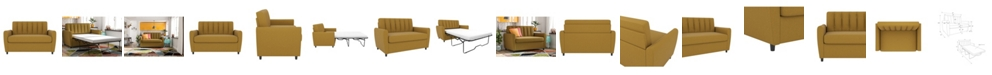 Novogratz Collection Novogratz Brittany Sleeper Sofa with Certipur-US Certified Memory Foam Mattress -Twin