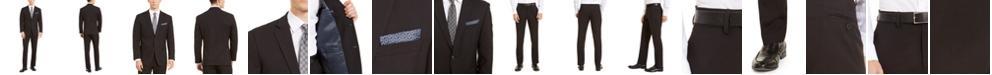 Perry Ellis Men's Slim-Fit Stretch Black Dobby Suit