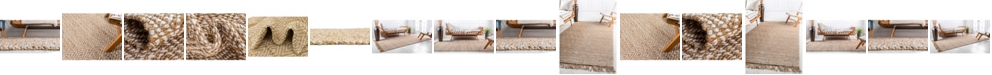 Bridgeport Home Braided Tones Brt3 Natural/White Area Rug Collection