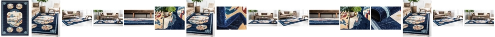 Bridgeport Home Sahil Sah3 Navy Blue Area Rug Collection