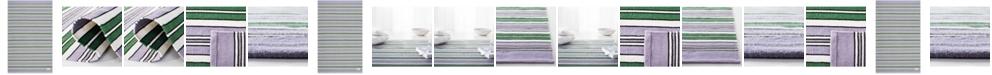 Lauren Ralph Lauren Leopold Stripe LRL2462G Lilac Area Rug Collection