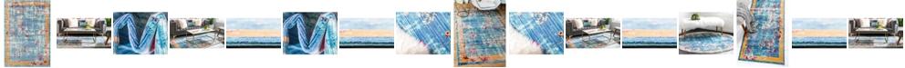 Bridgeport Home Malin Mal1 Blue Area Rug Collection