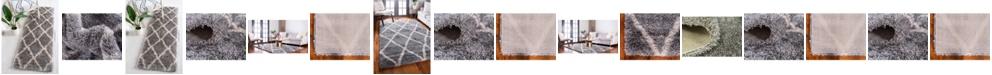 Bridgeport Home Latisse Shag Lts1 Gray Area Rug Collection