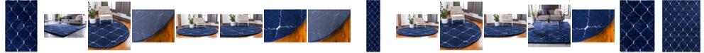 Bridgeport Home Fazil Shag Faz5 Navy Blue Area Rug Collection