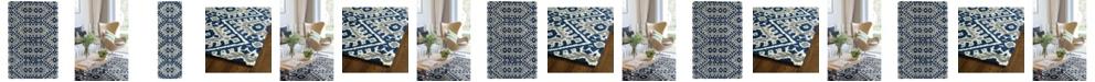 Kaleen Global Inspirations GLB01-17 Blue Area Rug Collection