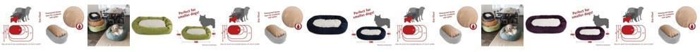 Majestic Pet Villa Micro-Velvet Sherpa Bagel Dog Bed