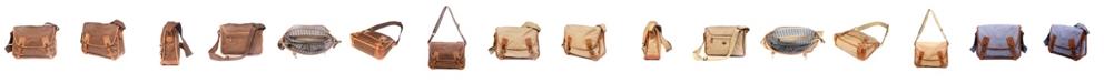 TSD BRAND Dolphin Canvas Messenger Bag