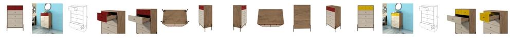 "Manhattan Comfort Joy 48.43"" Tall Dresser with 6 Full Extension Drawers"