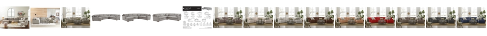 Furniture Carena Fabric Sectional Collection, Created for Macy's