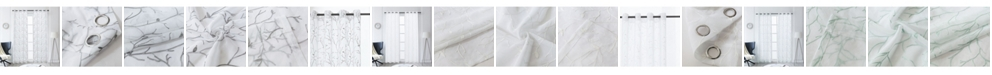 """Lyndale Decor Tess Embroidery Sheer Curtain, 95"""" L x 54"""" W"""