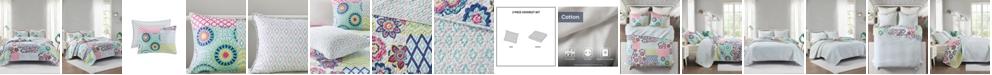 Intelligent Design Sunny 2-Piece Twin/Twin XL Reversible Coverlet Set