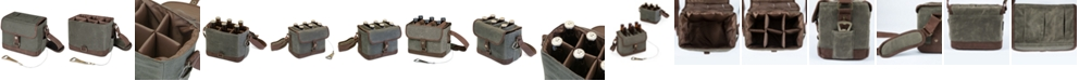 Picnic Time Legacy® by Khaki Green & Brown Beer Caddy Cooler Tote with Opener
