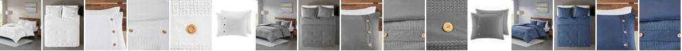 JLA Home Madison Park Finley King/California King 3 Piece Cotton Waffle Weave Comforter Set