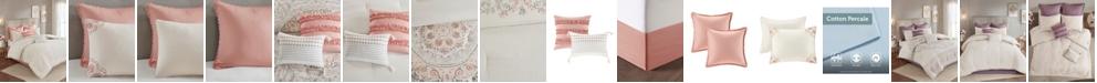 JLA Home Madison Park Elise Queen 8 Piece Cotton Printed Reversible Comforter Set