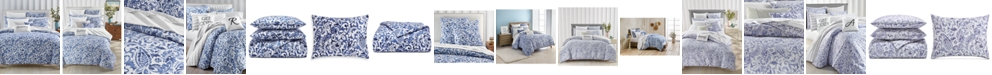 Charter Club Textured Paisley Cobalt Bedding Collection, Created for Macy's