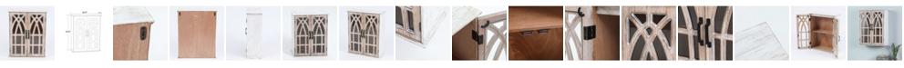 Luxen Home Double Door Wood Mounted Wall Cabinet