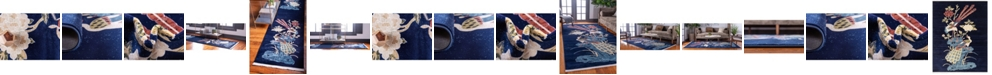 Bridgeport Home Sahil Sah1 Navy Blue Area Rug Collection