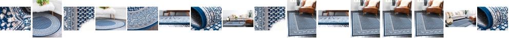 Bridgeport Home Axbridge Axb1 Blue Area Rug Collection