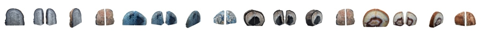 Nature's Decorations - Premium Agate Large Bookends