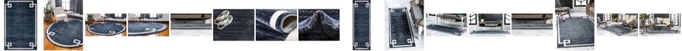 Jill Zarin  Lenox Hill Uptown Jzu005 Navy Blue Area Rug Collection