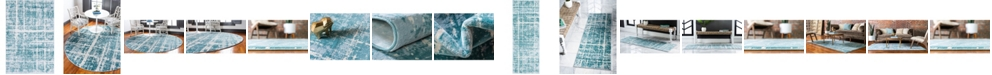 Jill Zarin Lexington Avenue Uptown Jzu003 Turquoise Area Rug Collection